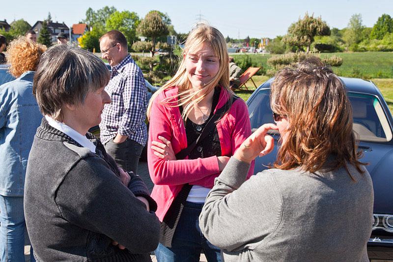 Frauen-Runde beim Rhein-Ruhr-Stammtisch: Karin ('Karin'), Viola ('*phoebe*') und Brigitte