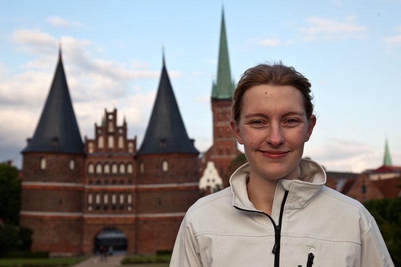 ORGA-Team Mitglied Viola ('*Phoebe*') in Lübeck