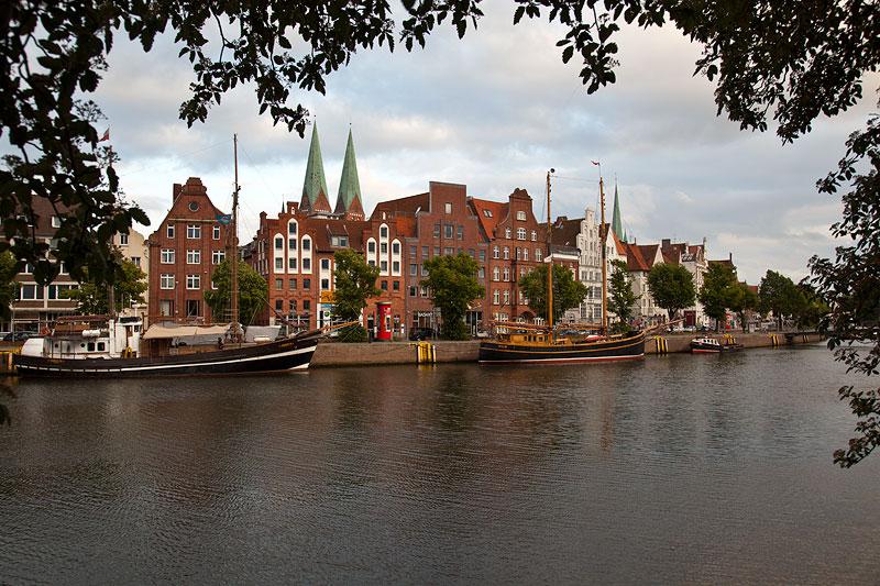 Blick auf die Altstadt von Lübeck