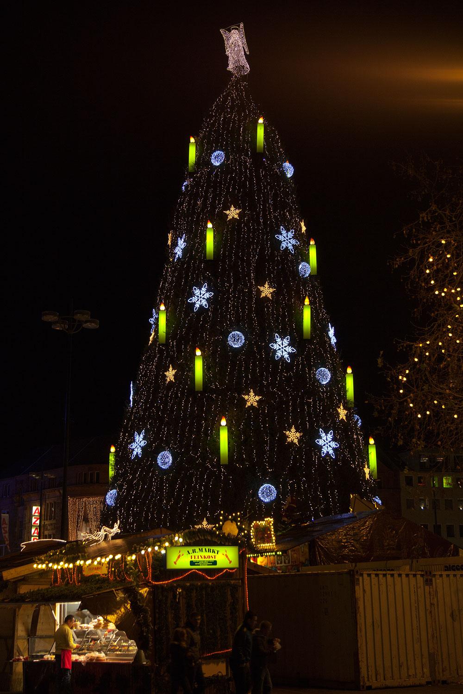 foto der gr te weihnachtsbaum deutschlands auf dem. Black Bedroom Furniture Sets. Home Design Ideas