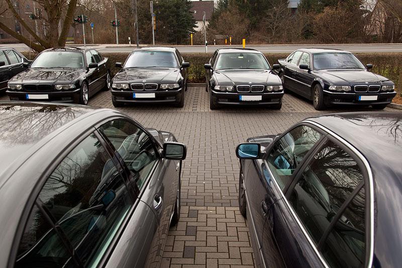 Rhein-Ruhr-Stammtisch im März 2012, Parkplatz vor dem Café del Sol in Castrop-Rauxel