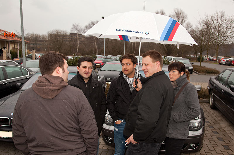 Rhein-Ruhr-Stammtisch im März 2012: leichter Regen am Nachmittag