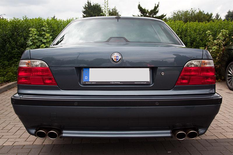 BMW 740i von Waldemar ('740ger') mit Alpina-Emblem; das Auto ist mit Alpina Chip-Tuning getunt