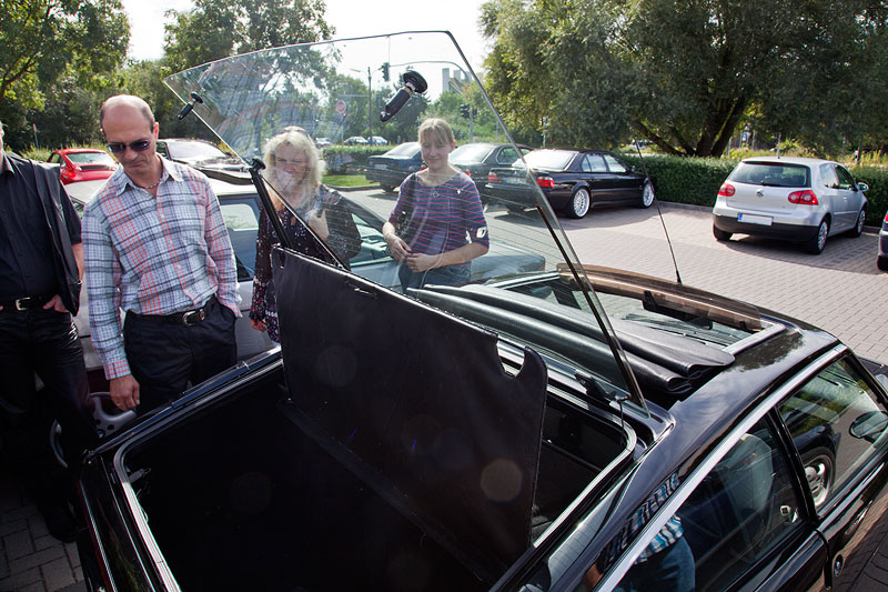 rahmenlose Glasscheibe als Kofferraumklappe