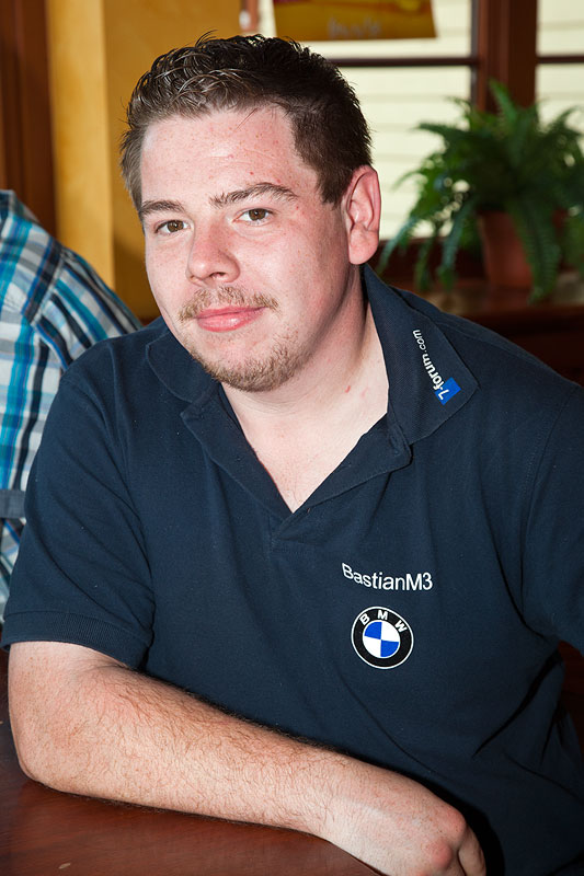 Bastian ('BastianM3') beim Rhein-Ruhr-Stammtisch in Castrop-Rauxel im September 2012