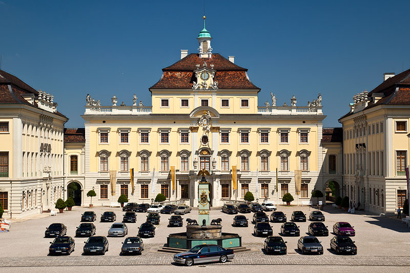 Gruppenfoto am Schloss Ludwigsburg am Pfingstmontag