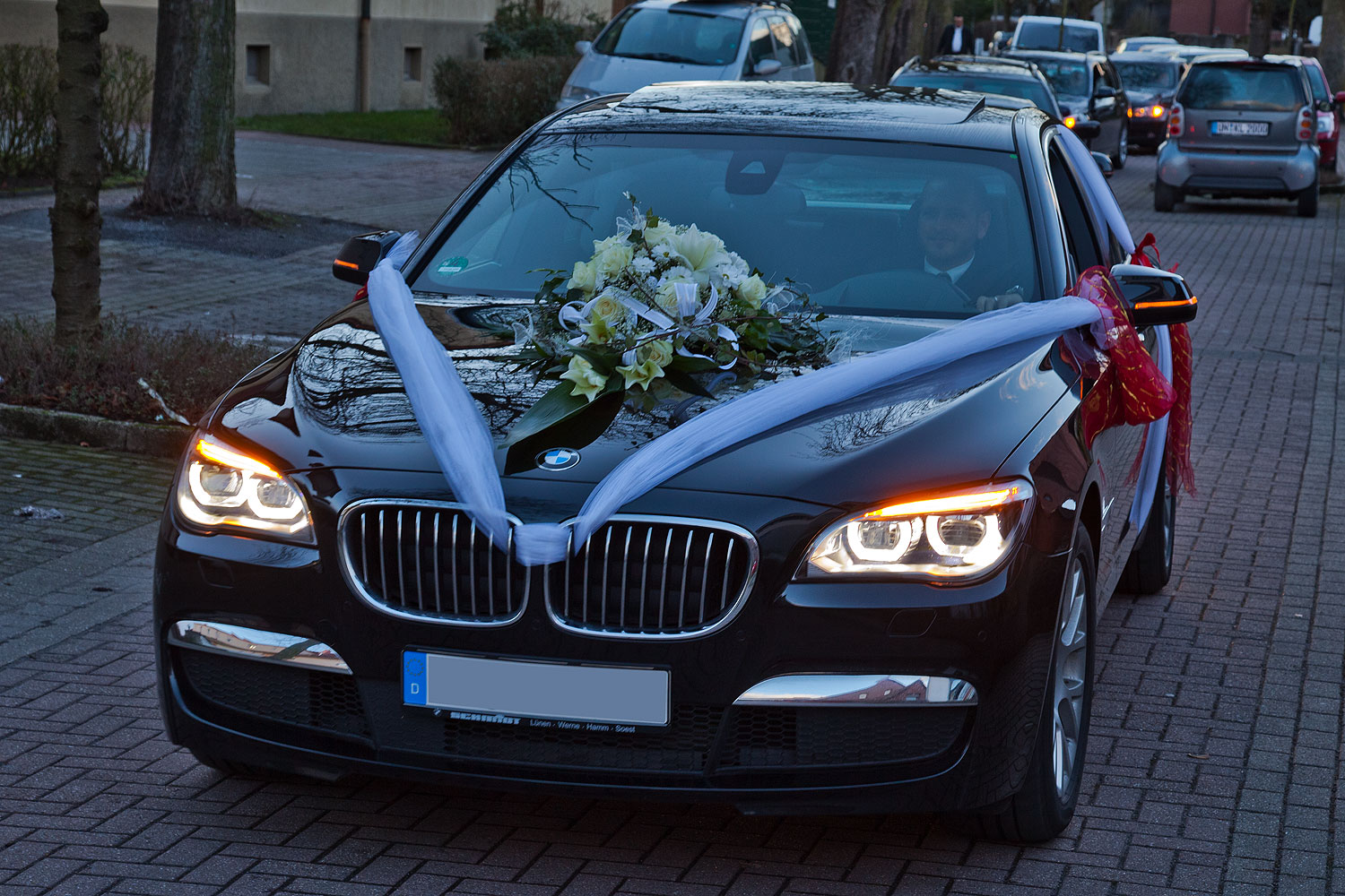 foto hochzeitsauto bmw 730d f01 lci vergr ert. Black Bedroom Furniture Sets. Home Design Ideas