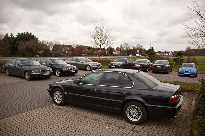 7er-Parkplatz beim Rhein-Ruhr-Stammtisch in Castrop-Rauxel im Februar
