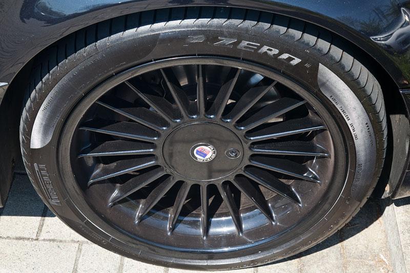20 Zoll Alpina Alurad, schwarz lackiert auf dem BMW 750i (E38) von Wilhelm ('WL7001')