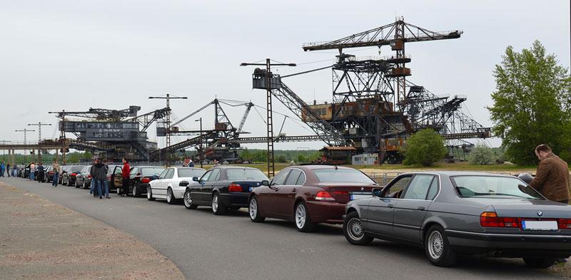 BMW 7er Treffen in der Ferropolis im Mai 2013