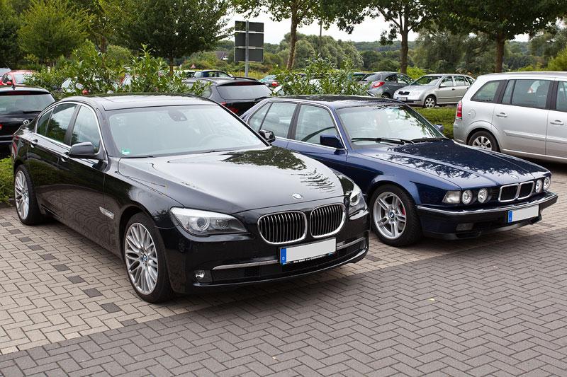 BMW 730d (F01) von Dirk ('Dixe') und BMW 730i (E32) von Andreas ('T-Bird')
