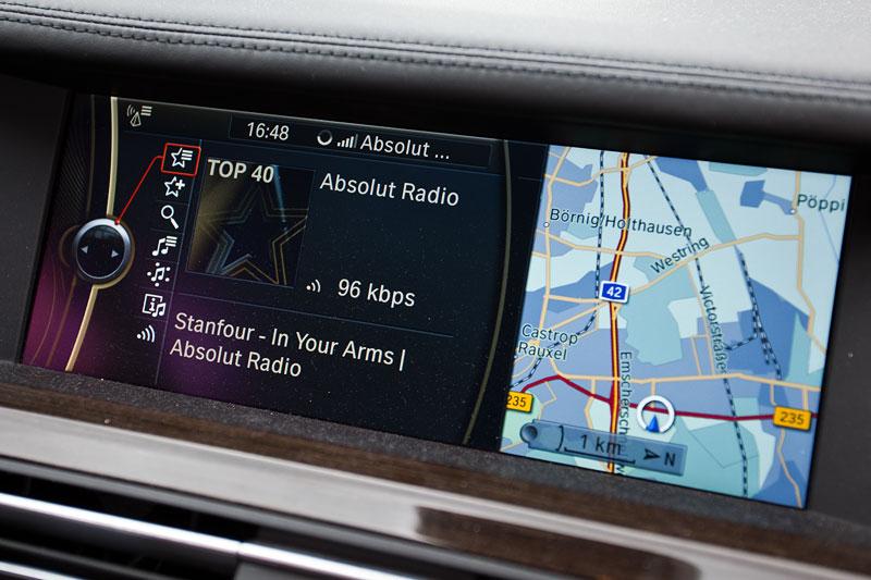 BMW Apps, nachgerüstet im BMW 730d (F01, Bj. 12.2010) von Dirk ('Dixe') über ein Kabel und einen Freischalt-Code