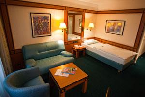 Einzelzimmer im Hotel Amadeus