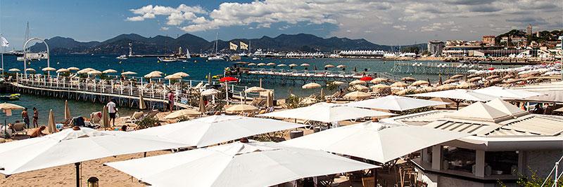Ziel des vierten Sternfahrt-Tages, u. a. der Strand von Cannes