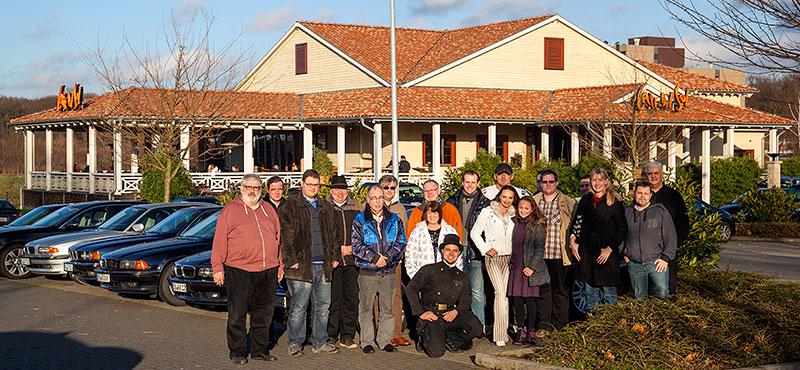Gruppenfoto beim Neujahrs-Stammtisch der Rhein-Ruhr 7er-Fraktion im Januar 2014