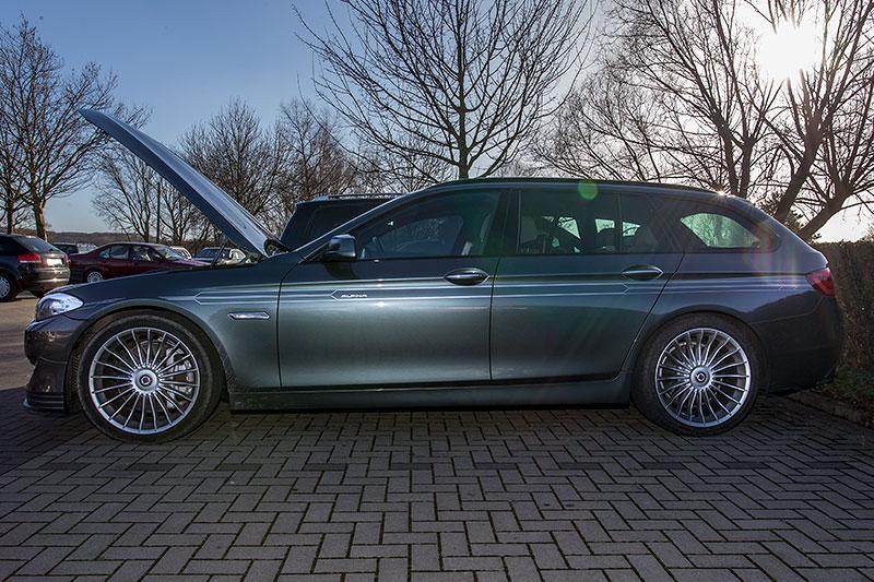 BMW Alpina B5 BiTurbo Touring (F11) von Michael ('Michael1963') beim Rhein-Ruhr-Stammtisch im Februar 2014