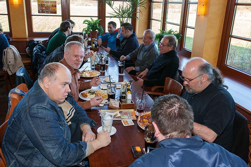 Stammtischrunde im Café del Sol im Februar 2014