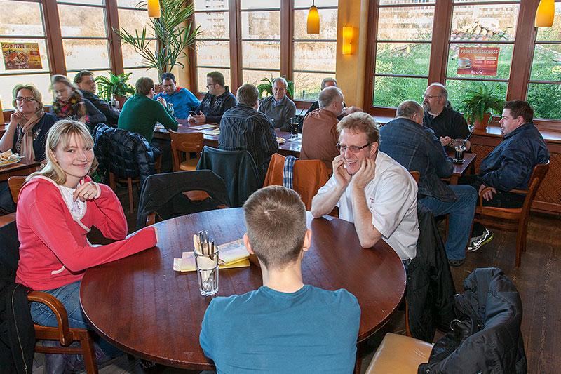Stammtischrunde im Café del Sol in Castrop-Rauxel im Februar 2014