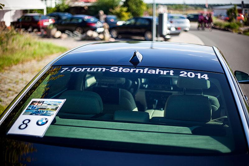 BMW 730Ld (F02 LCI) von Christian ('Christian') mit Sternfahrt-Aufkleber und Sternfahrt-Nummer