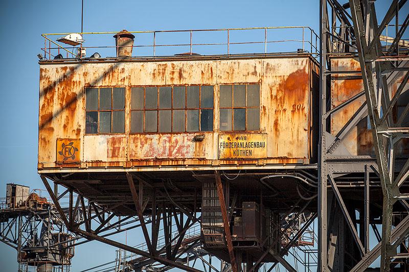 Ferropolis: Medusa Absetzer auf Schienenfahrwerk
