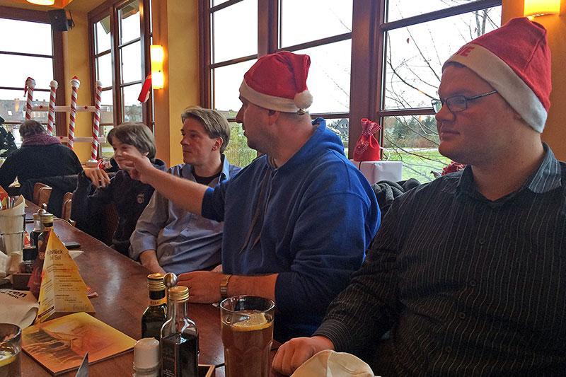 Stammtischrunde beim Weihnachts-Stammtisch