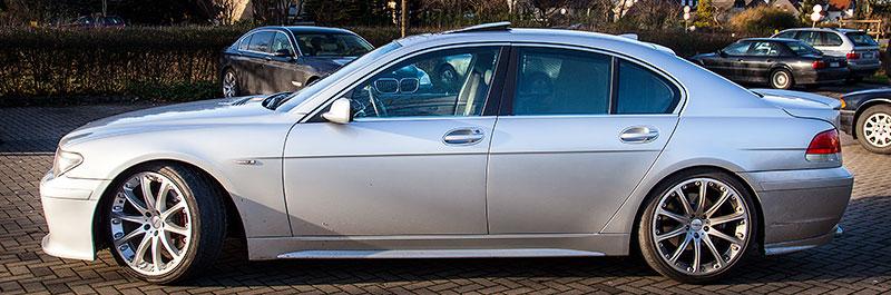 BMW 745i (E65), Baujahr 2001, Neuerwerb von Alain ('Alien'), Rhein-Ruhr-Stammtisch