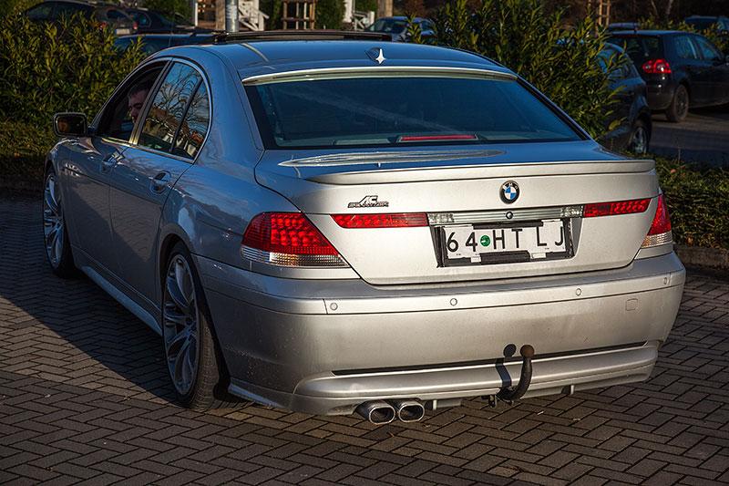 BMW 745i (E65), von Alain ('Alien') beim Neujahrs-Rhein-Ruhr-Stammtisch