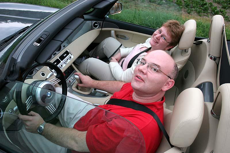 Pascal mit Karin im Z8 während der BMW-Sternfahrt