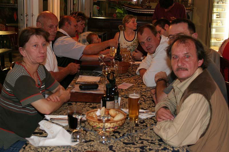 gemeinsames Essen am ersten Abend auf Albarella
