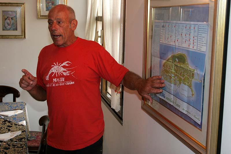Karl-Heinz Erban erzählte der Frühstücksgesellschaft über Albarella