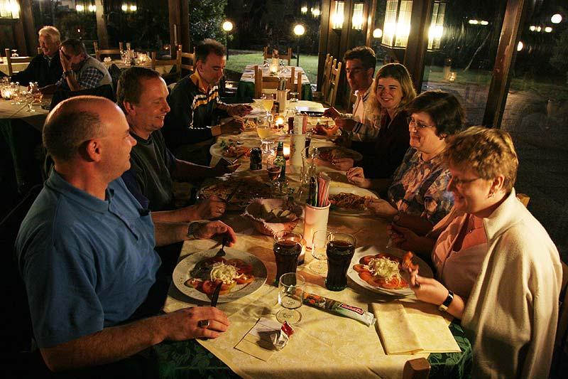 gemeinsames Abendessen auf Albarella