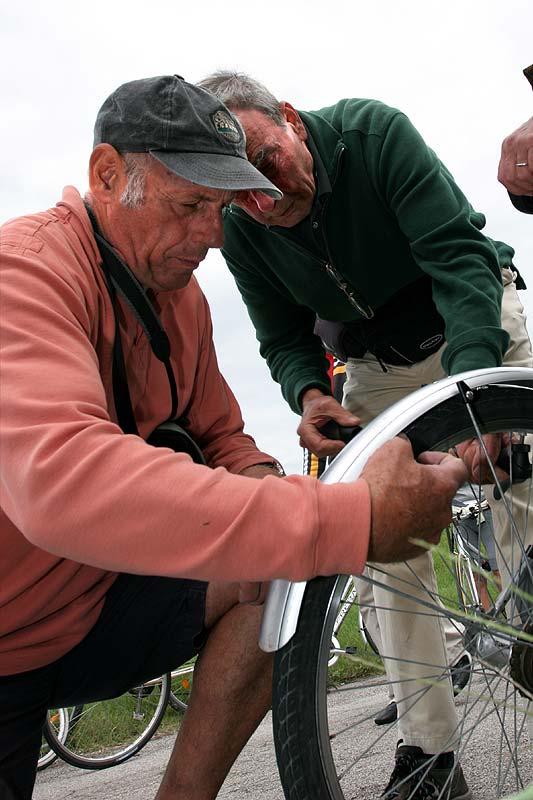 Reifenpanne während der Radtour