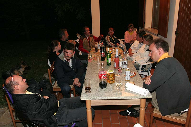 abends bei Silka, Melli, Philipp und Daniel