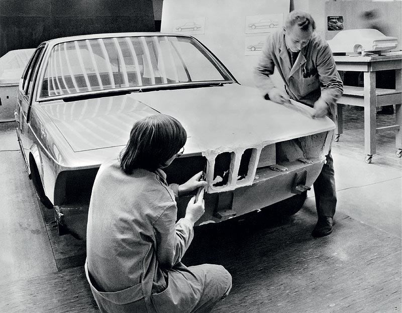 BMW 7er-Reihe der 1. Generation, Arbeiten am Gips-Modell