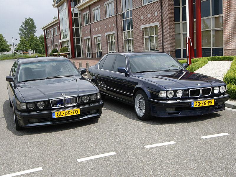 Martin de Boers BMW 750Li neben einem niederländischen 7er-Kollegen