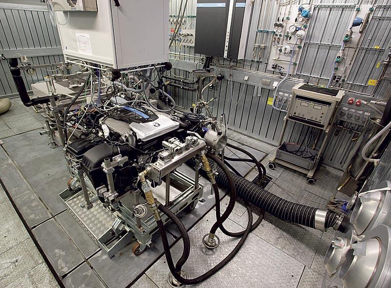 Wasserstoff V12-Motor auf dem Prüfstand
