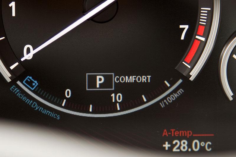 BMW 760Li Tachometer mit EfficientDynamics Anzeige