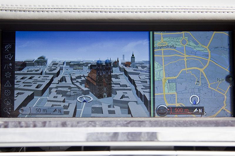 BMW 760Li mit 3D-Darstellung des Navigationssystems