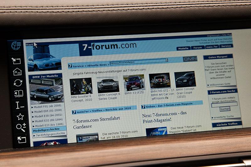 BMW ActiveHybrid 7 mit vollwertigem Internet-Zugang - leider nur mit langsamer EDGE-Übertragungstechnik