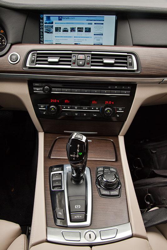 BMW ActiveHybrid 7, Mittelkonsole