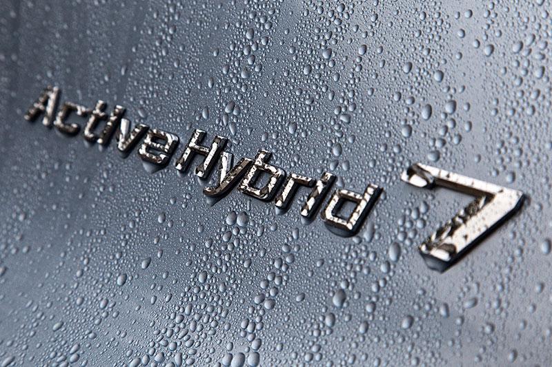 BMW ActiveHybrid 7: Badge auf der C-Säule