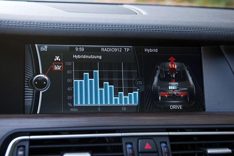 BMW ActiveHybrid 7: Anzeige der Hybridnutzung in den letzten 15 Minuten