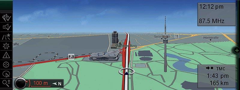 BMW Navigation System Professional, 3D Darstellung BMW Zentrale
