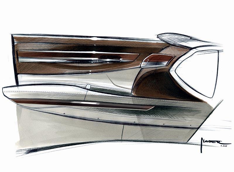 Die neue BMW 7er Reihe, Design Skizze, Nader Faghihzadeh (Interieur Design)