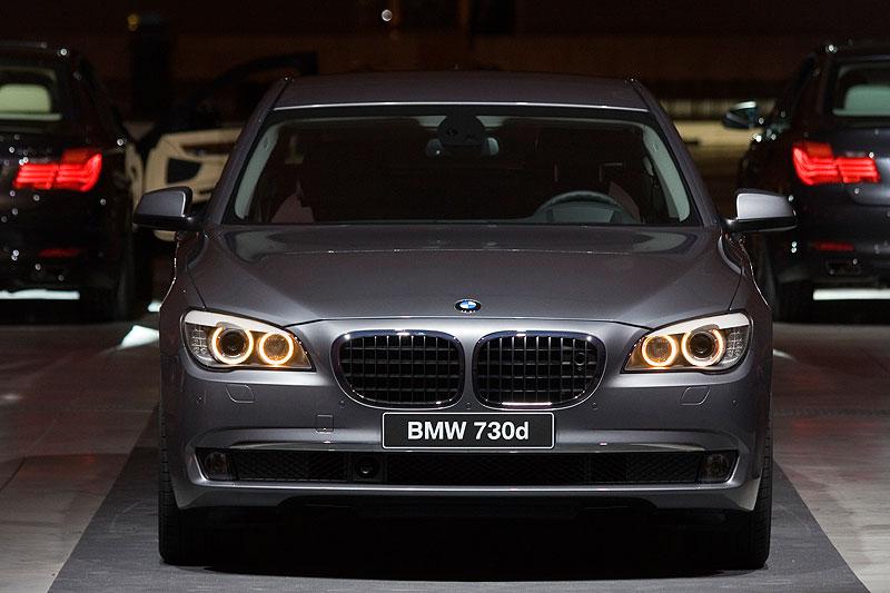 BMW 730d, Modell F01 bei der internationalen Journalisten-Präsentation in Dresden