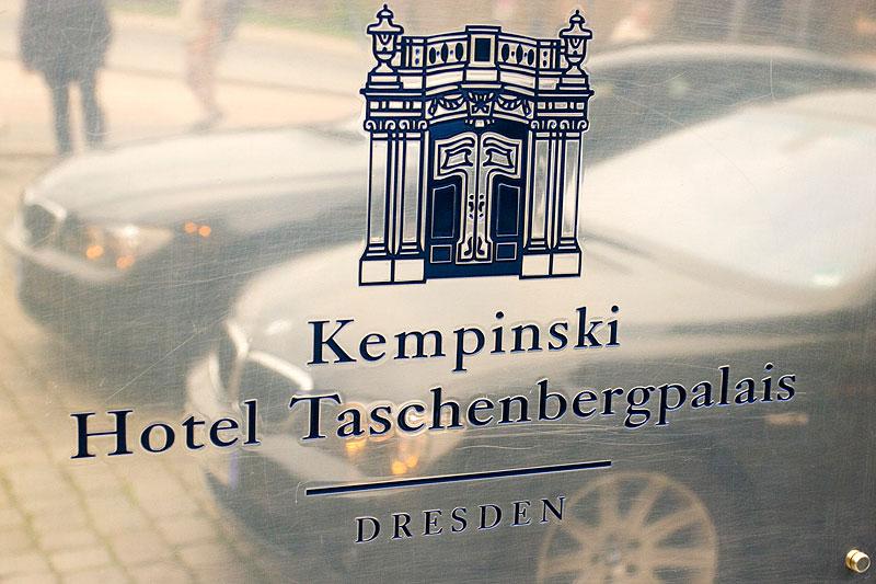 Untergebracht wurden die Journalisten im Kempinski Hotel Taschenbergpalais in Dresden