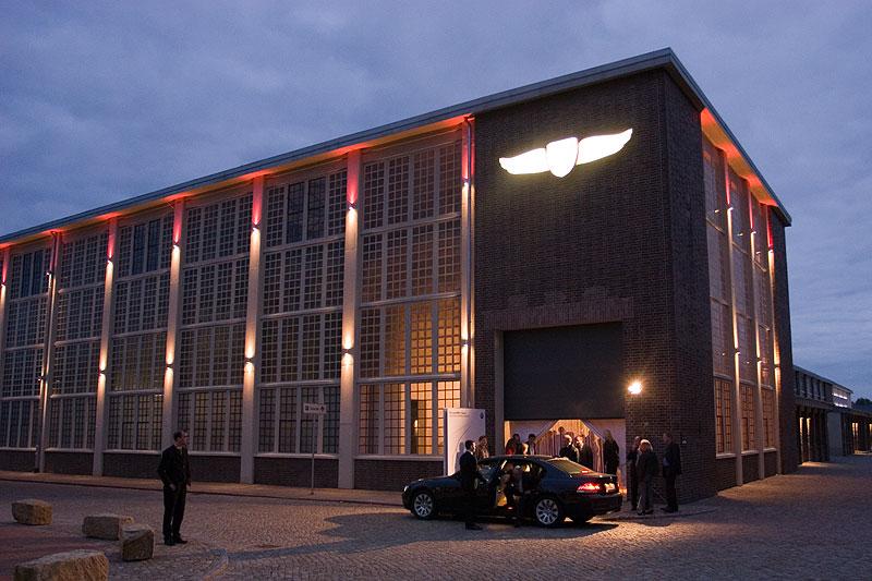 In dieser Werkshalle der Zeitenströmung Dresden wurde der neue 7er präsentiert