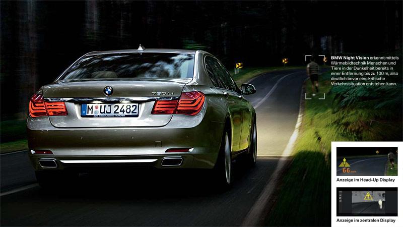 ...wird durch das NightVision-System im 7er-BMW erkannt