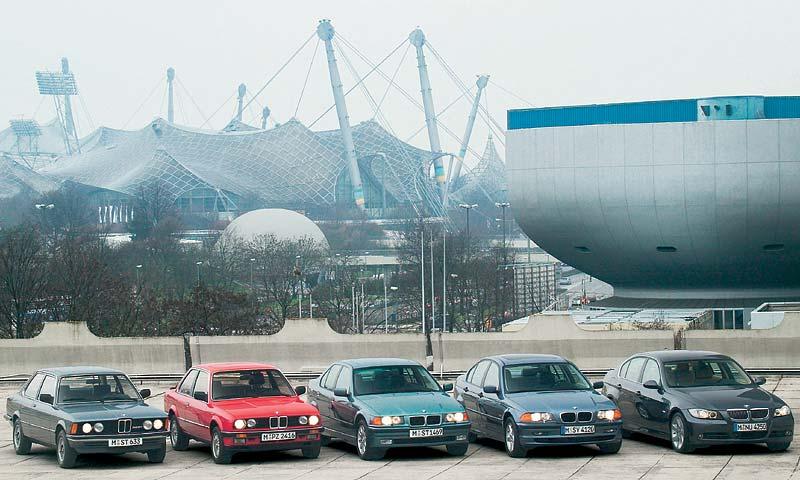 Fünf Generationen Freude am Fahren - die BMW 3er-Reihe