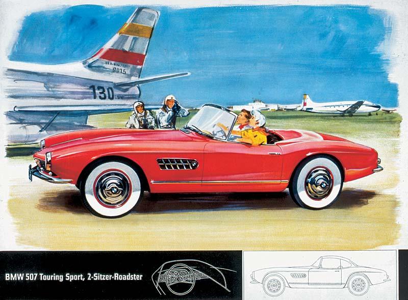 BMW 507, Zeichnung aus dem Verkaufsprospekt